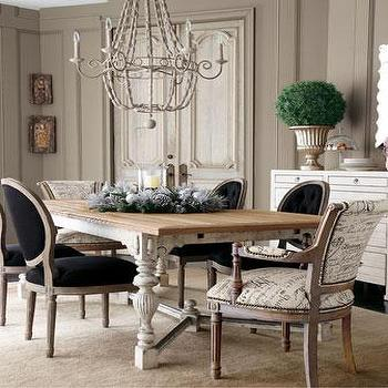 French Script Dining Chairs, French, dining room