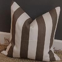 Pillows - Windsor Smith Cap Deluca linen pillow 20 sq clove/ by woodyliana - Windsor Smith, Cap Deluca, linen, pillow
