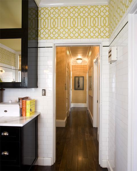 Black White Kitchen Wallpaper: Citrine Imperial Trellis Wallpaper