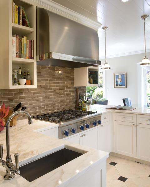 Gray Kitchen Backsplash  Transitional  kitchen  Tish Key Interior
