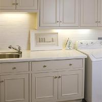 Tish Key Interior Design - laundry/mud rooms - ivory cabinets, ivory laundry room cabinets, laundry room cabinets, checkered tiles, checkered floor,