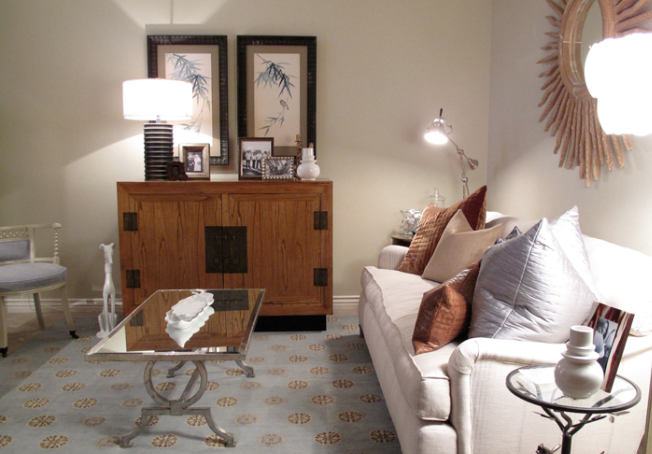 Asian Console, Transitional, living room, Alice Lane Home
