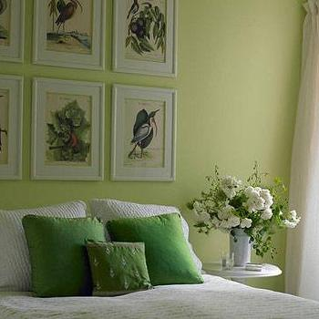 House Beautiful - bedrooms - green walls, green paint, green paint color, apple green walls, apple green paint, apple green paint color, apple green room,