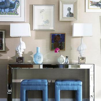 Mirrored Console Table, Contemporary, entrance/foyer, Look Linger Love