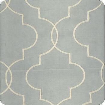Fabrics - Discount Designer Fabric - LS Fabrics - blue, trellis, fabric