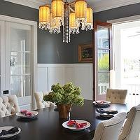 Look Linger Love - dining rooms - French doors, dining room french doors, board and batten, dining room board and batten, tufted dining chairs,