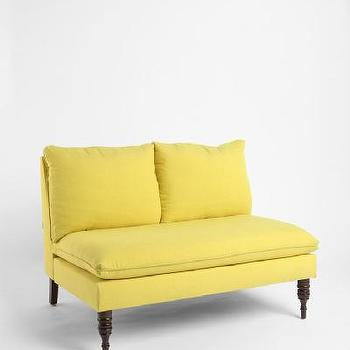Seating - UrbanOutfitters > Daydreamer Settee - settee, yellow, color