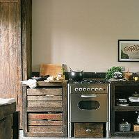 Miscellaneous - Kitchen with steel cooker and apple-crate drawers | housetohome.co.uk - kitchen, crate, cabinets
