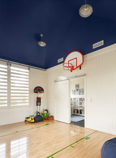 Attice Basketball Court Transitional Boy 39 S Room Dillon Kyle Architecture
