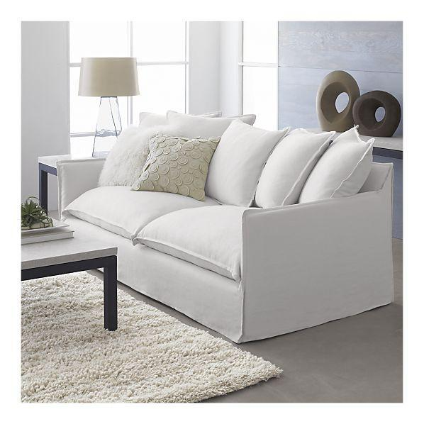 Seating - Slipcover for Oasis Sofa | Crate&Barrel - white, oasis, slipcovered, sofa