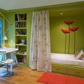 Apple Green Walls Transitional Girl S Room Bella