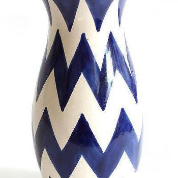 Decor/Accessories - Emilia Ceramics - Blue ZigZag Vase - zig zag, vase
