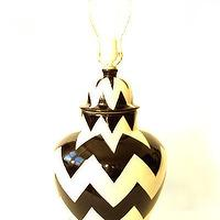 Lighting - Emilia Ceramics - Black ZigZag Lamp - white, black, zig zag, lamp, base