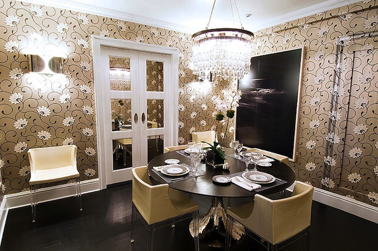 Black And Gold Dining Rooms | Modern World Home Interior ...