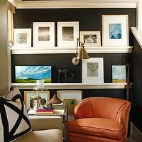 Picture Ledge Contemporary Living Room David Jimenez