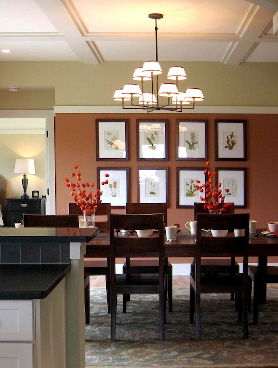 Dining room benjamin moore copper mountain for Dining room ideas paint