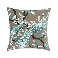 Pillows - DwellStudio | PEACOCK AZURE PILLOW - Pillows - Home - PEACOCK, AZURE, PILLOW