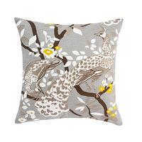Pillows - DwellStudio | PEACOCK CITRINE PILLOW - Pillows - Home - PEACOCK, CITRINE, PILLOW