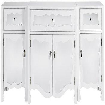 Storage Furniture - Reflections Mia Cabinet - Cabinets - Storage Cabinets - Living Room Furniture - Furniture | HomeDecorators.com - white, mirrored, cabinet