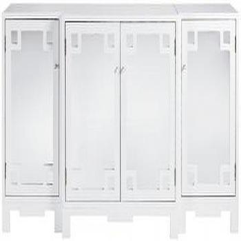 Storage Furniture - Reflections Westport Cabinet - Cabinets - Storage Cabinets - Living Room Furniture - Furniture | HomeDecorators.com - white, mirrored, cabinet