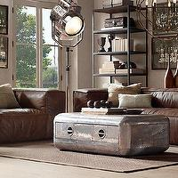 Storage Furniture - Blackhawk Large Coffee Table | Coffee Tables | Restoration Hardware - blackhwak, aluminum, coffee table