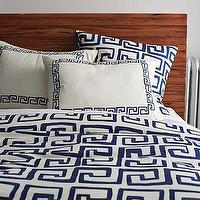 Bedding - Greek Key Duvet Cover + Shams | west elm - greek key, duvet, shams, bedding