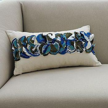 Pillows - Bright Spot Pillow Cover | west elm - blue, applique, pillow