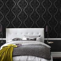 bedrooms - wallpaper,  black