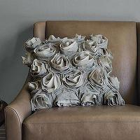 Pillows - Deconstructed Rose Pillow Cover | west elm - gray, rose, pillow