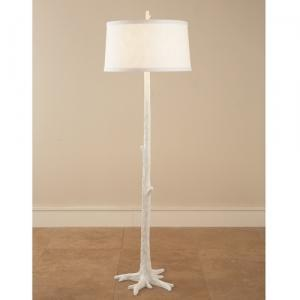 Lighting - White Faux Bois Floor Lamp: ShopTen 25 | Interior Design Dallas TX | - white, faux bois, floor lamp