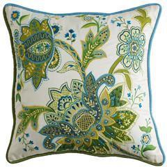 Floral Appliqued Pillow