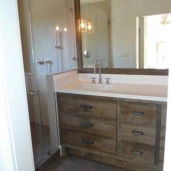 Distressed Bathroom Vanity, Contemporary, bathroom, Artistic Designs for Living