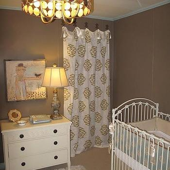Taupe Nursery, Contemporary, nursery, Marianne Strong Interiors
