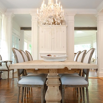 Restoration Hardware Trestle Table, French, dining room, AMI Designs