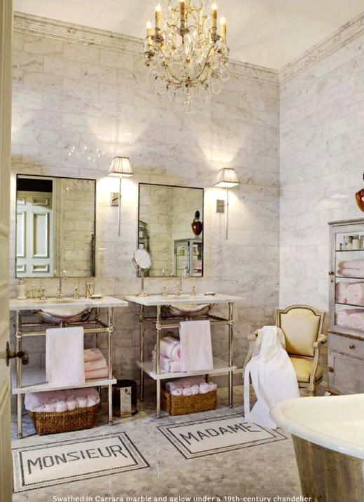 House Beautiful Bathrooms: His And Her Bath Mats