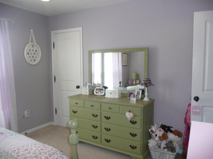 Green Dresser Transitional Girl S Room Sherwin