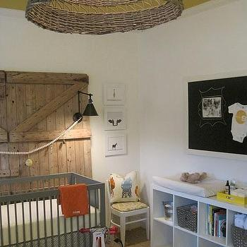 Gray Nursery Crib, Country, nursery, Sherry Hart Designs