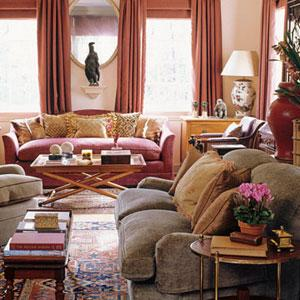 living rooms - Benjamin Moore - Durango Dust - apricot, transitional, cranberrry, traditional,  Lori Feldman   this is a warm beachy color that