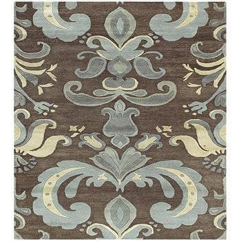 Rugs - Studio Pale Blue Hand Tufted Wool Rug - blue, brown, rug