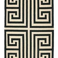Rugs - Trina Turk Rug Hook Greek Key Black - trina turk, greek key, rug