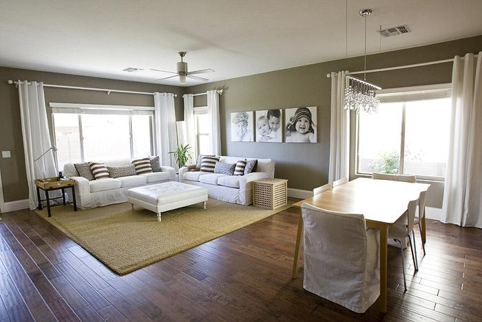 Taupe paint colors contemporary living room 4 men 1 lady for Taupe paint colors living room