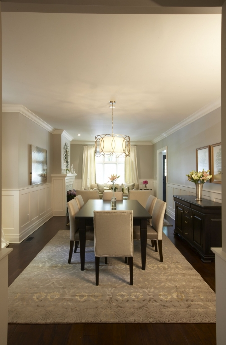 Dining Room Wainscoting, Traditional, dining room, Pratt and Lambert Gray Moire, Meredith Heron Design