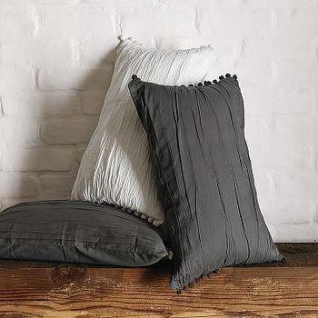 Pillows - Pompom Pillow Covers | west elm - pom pom, pillow, covers