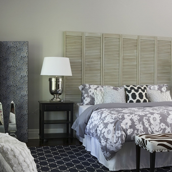 Shutters as Headboard, Transitional, bedroom, Meredith Heron Design