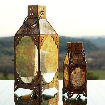 Decor/Accessories - Ios Paned Mercury Glass Lanterns | Pottery Barn - mercury, glass, paned, lanterns