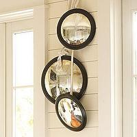 Mirrors - Round Convex Mirrors | Pottery Barn - small, black, convex, mirrors