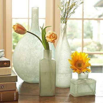 Decor/Accessories - Sea Glass Bottles, Set of 4 | Pottery Barn - sea, glass, bottles