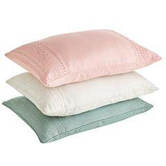 Beaded Linen Pillows