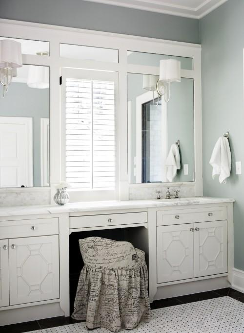 French Script Chair - Transitional - bathroom - Brian Watford ...
