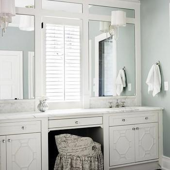 French Script Chair, Transitional, bathroom, Brian Watford Interiors